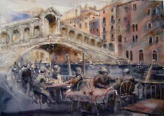 Venice (Ponte Rialto) by Juan Félix Campos