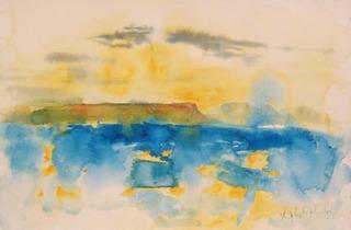 Isle of Eigg and Rum Sunset by Chris Hankey