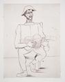 Arlequin Moustachu à la Guitare by Picasso Estate Collection