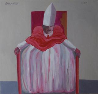 Pope asleep by Ricardo Hirschfeldt