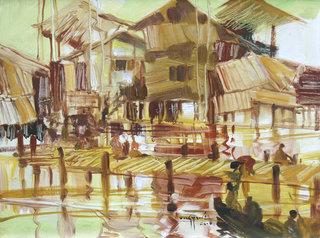 Inle lake III by U Lun Gywe