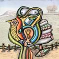 laying bird by Francisco Higuera Molero