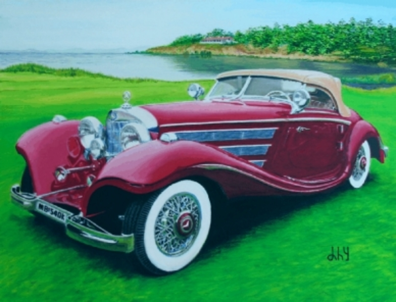 Mercedes Benz 540K Spezial Roadster From 1936 By Angel Del Hierro