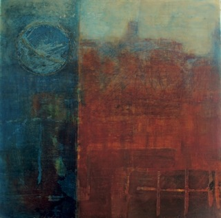 A night in Siena- encaustic with oil by Nella Lush