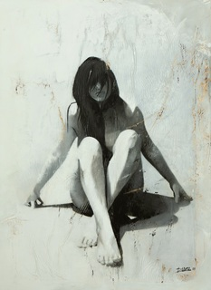 mujer en reposo by raúl lara naranjo