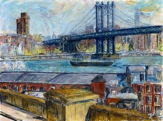 View from Brooklyn Bridge by Joan de Bot