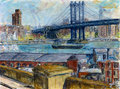 View from Brooklyn Bridge by Joan de Bot