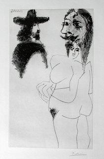 Beau Gentilhomme Espagnol  et femme a Barbe by Pablo Picasso