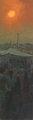 Last Light on Camel Fair, Pushkar by Pip Todd Warmoth