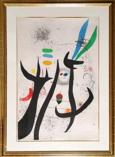 La Femme Arborescente (Dupin 649) by Joan Miró