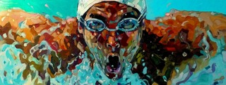 swimmer by Anna Bocek