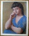 La Femme en Bleu by after Pablo Picasso