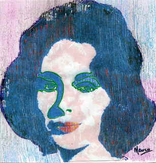 Elizabeth Taylor with texture I by Marco Mark