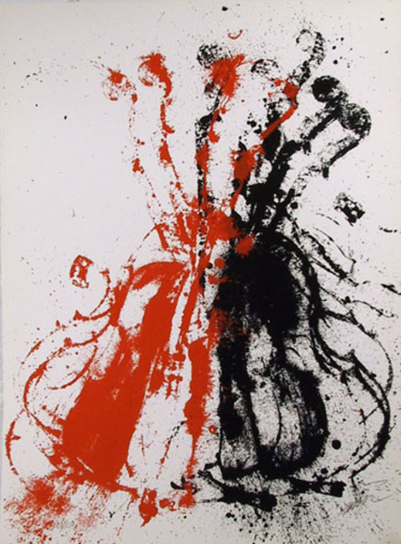 Violent Violins Ii Original Art By Arman Picassomio