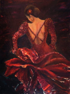 Flamenco dancer MA by Sylva Zalmanson