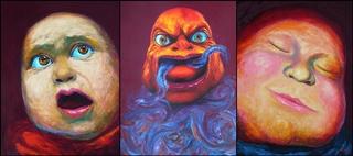 THE FEAR Triptych by Tran Tuan