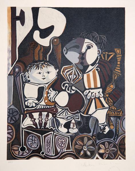 Deux Enfants Assis by Picasso Estate Collection
