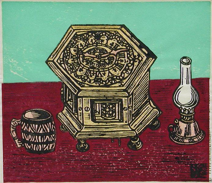 lamp and clock by Sumio KAWAKAMI