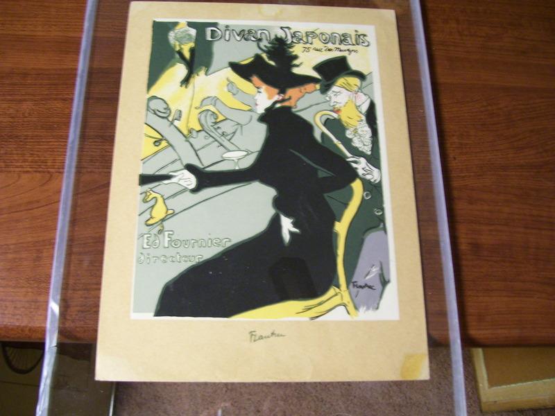 Divan japonais lautrec original art by henri de toulouse for Divan japonais poster value