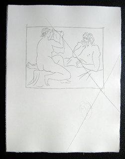 Arachnee Montrant son travail by Pablo Picasso