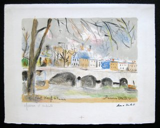 Pont Neuf a Paris by Maurice Utrillo