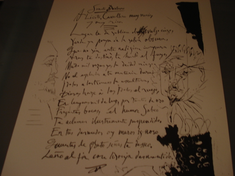 Picasso Heliogravure Of Illustrated Poem Original Art By