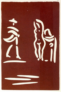Cavalier and two figures by Pablo Picasso