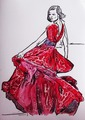 Drees red by Raquel Sara Sarangello