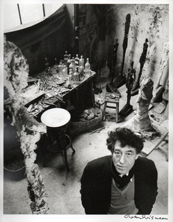 The artist Alberto Giacometti in his studio by Robert Doisneau
