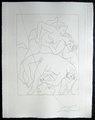 Mort D'Orphee (Troisieme Planche) by Pablo Picasso
