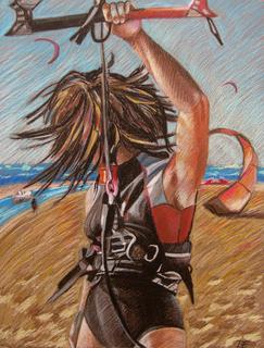 Kitesurfer by Inga Erina