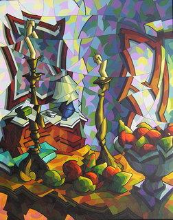 Interior con frutas by José Sanz Sala