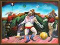 Malabarista Haciendo su Acto Sobre un Helado de Fresa by Alejandro Colunga