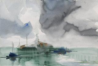 Fog Over Waters by U Lun Gywe
