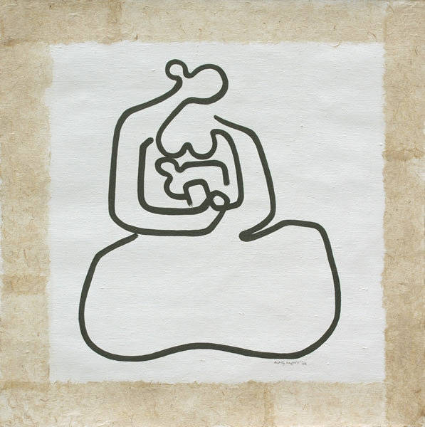 Mother and Child (2) by Aung Myint