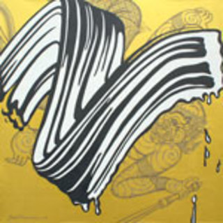 White Brushstroke (after R. Lichtenstein) by Jirapat Tatsanasomboon