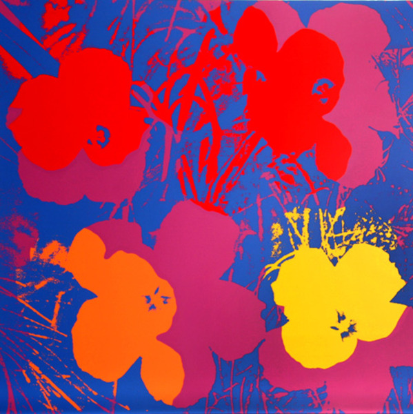 Flowers v original art by andy warhol picassomio for Andy warhol famous works
