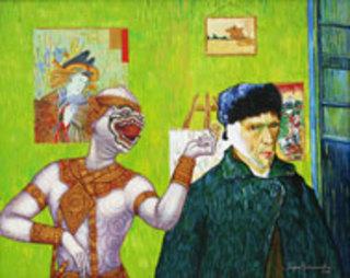 Heal the Wound  (after V. van Gogh) by Jirapat Tatsanasomboon