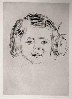 Kinderkopf by Edvard Munch