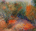 Orange bushes by Inga Erina