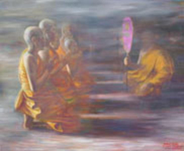 Making Merit by Santi Thongsuk