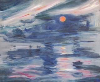 Sunset on the coast by Rosario de Mattos
