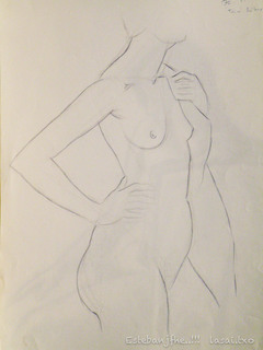 female Nude by Esteban J Fernández H. E.
