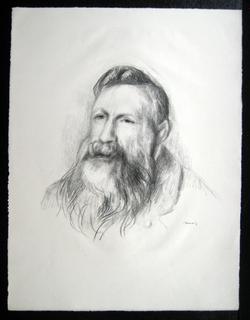 Portrait of Auguste Rodin by Pierre Auguste Renoir