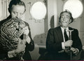 Dali and Capitain Moore with an Ocelot by Salvador Dalí