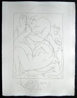 Eurydice piquee par un serpent (Deuxieme planche) by Pablo Picasso