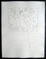 Quatre hommes nus assis by Pablo Picasso