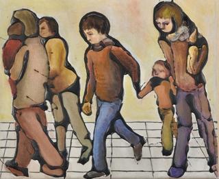 Family Stroll by Hilary Senhanli