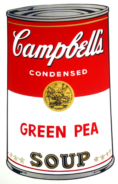 campbell 39 s soup grean pea original art by andy warhol picassomio. Black Bedroom Furniture Sets. Home Design Ideas
