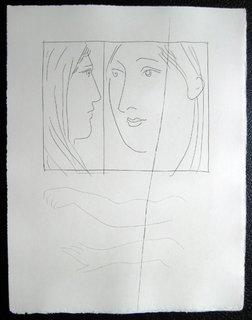 Deux tetes de femmes by Pablo Picasso